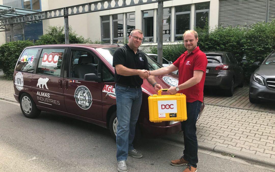 Charity Rallye mit Almas Industries als Hauptsponsor