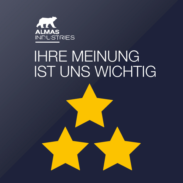 Hohe Kundenzufriedenheit mit Servicehotline von ALMAS INDUSTRIES